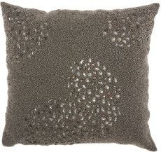 """COUTURE LUSTER E5500 PEWTER 20"""" x 20"""" THROW PILLOW"""