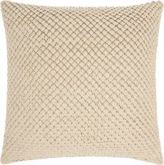 """COUTURE NAT HIDE PD280 WHITE 20"""" x 20"""" THROW PILLOW"""