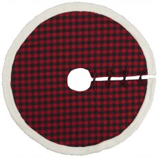 """HOME FOR THE HOLIDAY QY412 RED 48"""" x 48"""" ROUND TREE SKIRT"""