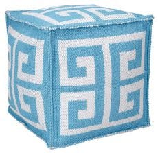 """OUTDOOR PILLOW AS555 TURQUOISE 16"""" x 16"""" x 16"""" POUF"""